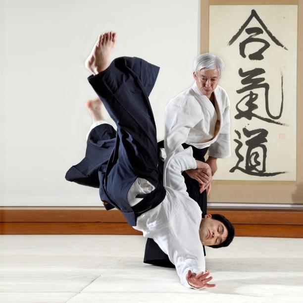Maestro enseñando Aikido. Japón.